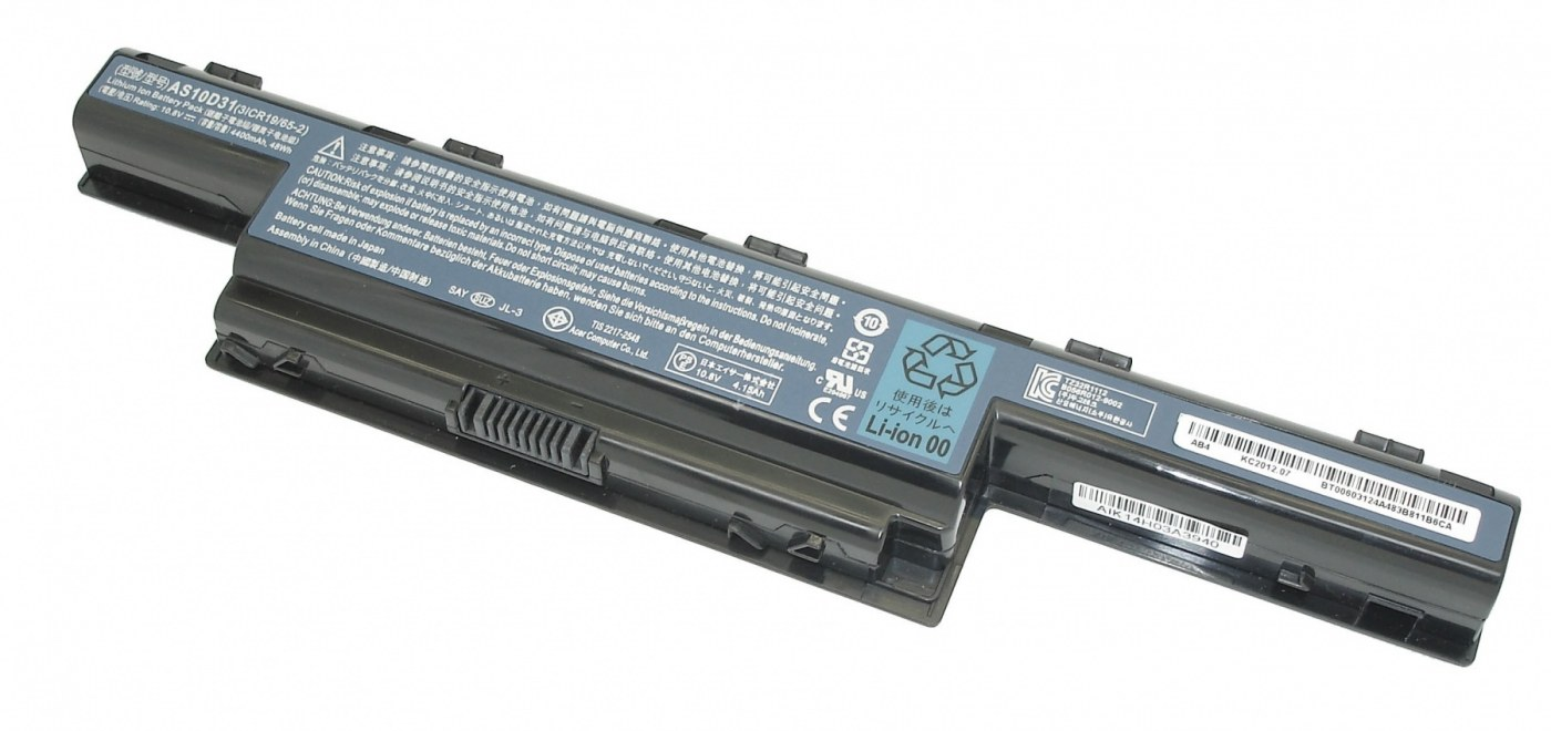 Аккумулятор Acer Aspire 4551, 4741, 4771, 5253, 5333, 5336, 5349, 5551, 5552G, 5733, 5741, 5560, 5755,5749, TravelMate 5740, (AS10D31), 4400mAh, 10.8V